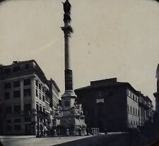 Column of the Immaculate Conception, Piazza di Spagna, Magic Lantern Glass Slide