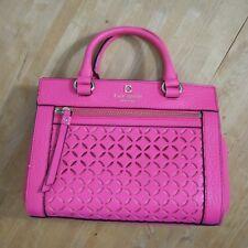 Kate Spade Mini Romy Perri Lane Caberet Pink Leather Satchel CrossbodyWKRU3546