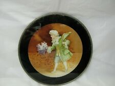 """New listing Vintage Glass Flue Cover Young Man With Flowers 7.75"""" Late 1800's Early 1900's"""