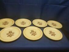 "Vinta Pfaltzgraff ""VILLAGE"" Set of 7 Dinner Plates Retired Pattern Very Nice!"