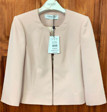 Jacques Vert NEW Crepe Jacket in Blush Light Pink Sizes 8 to 24