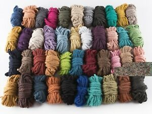 4mm 10 mtrs macrame cord cotton string coloured small sample rope craft yarn