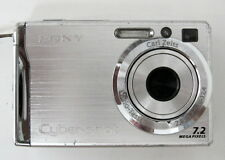 SONY Cyber-shot DSC-W80 7.2MP Digital Compact Camera Video Silver  GOOD - TESTED