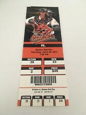 Jon Lester Win Guerrero HR April 28 2011 4/28/11 Orioles Red Sox Full Ticket