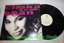 "It's my party (1988) / Vinyl Maxi Single by Chaka khan WARNER LP 12"" (VG)"