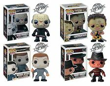 "Funko HORROR 3.75"" POP 4pc SET MICHAEL  M - JASON V - LEATHERFACE - FREDDY K"