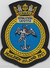 operation Grapple Nuclear Weapons Royal Navy Embroidered Badge Patch
