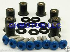 CBR 250 400 600RR 900RR 929RR 1000RR R1 R6 BLUE WINDSCREEN BOLTS SCREWS KIT US