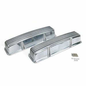 Vintage Tall Finned Valve Covers w/o Breather HolesSmall Block Chevy