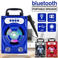 Tragbarer bluetooth Lautsprecher Wireless BT 5.0 FM Radio Soundbox mit Mikrofon