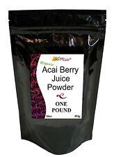 Organic ~ GMO FREE ACAI Berry JUICE Bulk POWDER Pure Perfect Burn POUND 16oz Lb