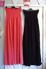 SOUTH/MISS SELFRIDGE LADIES ORANGE/BLACK BANDEAU MAXI DRESSES X 2 UK SIZE 10-12