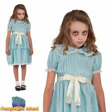 Creepy Sister Gothic Doll Childs Horror Halloween Girls Fancy Dress Costume