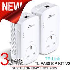 TP-Link AV1300 Gigabit Passthrough Powerline Starter Kit│TL-PA8010P KIT V2│Twin