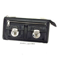 Marc Jacobs Wallet Purse Black Silver Woman Authentic Used S292