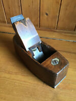 Vintage Wooden Coffin Block Bench Plane - Steel Mouth - John Moseley & Son
