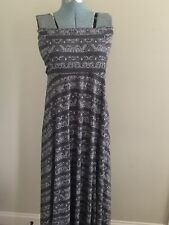 Womens Gray ATHLETA Strapless Tube Top Casual Maxi Sun Dress ~ Sz L NWOT