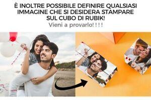 Idea Regalo SAN VALENTINO - Cubo rubik magico Personalizzabile con Foto e Testo