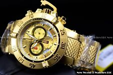 Invicta Men's 50mm Subaqua Noma III Swiss Chrono 18KGIP SS Bracelet Watch 5403