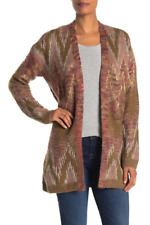 Lucky Brand Metallic Stitch Lux Cardigan, Size Large, Retail $149.00