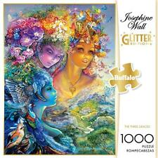 BUFFALO GAMES GLITTER PUZZLE THE THREE GRACES JOSEPHINE WALL 1000 PCS #11726