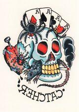 Temporary Tattoo, Ed Hardy, Catcher (Totenkopf und Asse)