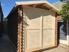 4 by 2.5 meters Workshop cabin we can make any size, felt roof shingles included