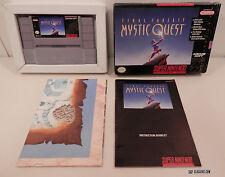 Final Fantasy: Mystic Quest (Super Nintendo Entertainment System, 1992) CIB!