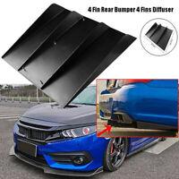 "21.8""x19"" Black ABS Universal Car Rear Bumper 4 Shark Fins Spoiler Wing Diffuser"