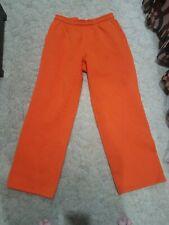Men's XL X Large Orange Sweat Pants Jogging Pants Training Fitness Loung Pockets