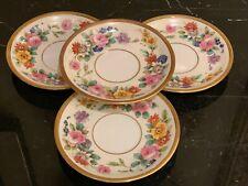 Vintage Limoges U.C. France Hand Painted Saucers Set of 4