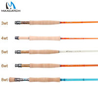 Maxcatch 3/4/5/6WT Fiberglass Fly Fishing Rod S-glass E-glass Medium Action