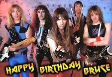 IRON MAIDEN heavy metal Rock PERSONALISED greeting Happy Birthday ART Card