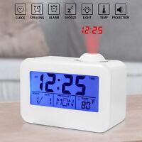 LCD Proiettore Orologio digitale sveglia led display temperatura data ALLARME