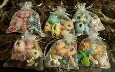 Littlest Pet Shop LPS Lot ❤ 3 Pets Random SURPRISE Grab Bag Rare ❤ + Crystal Bow