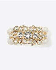 NEW Ann Taylor Gold & Pearl Bracelet