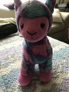 Build-A-Bear Loveable Llama Alpaca with  Multicolored Plush Stuffed Animal