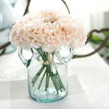 5 Künstliche gefälschte Peony Seiden Blume Hochzeit Hortensie Garten Strauß