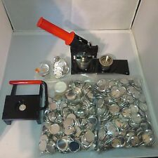"1-1/4"" Kit TECRE Button Maker Machine, Graphic Punch, 1000 Pin Back Button Parts"