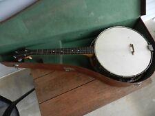 Vintage Tenor Banjo With Case