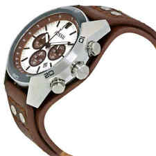 NEW Fossil Coachman Chronograph Cuff Leather Men's Watch (CH2565)