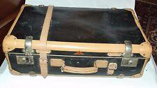 Vintage Echt Vulkan Fibre Black/Tan suitcase