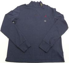 Mens Polo Ralph Lauren 1/2 Zip Mock Neck Pullover Shirt Navy Medium $98 TOU