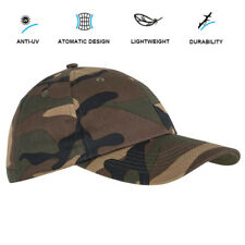 SOLOGNAC Men Cap Outdoor Camouflage Camping Hunting Hiking Beach Anti-UV Sun Hat