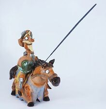 Handmade ceramic incense burner - figurine 'Don Quixote', 23 cm, © Midene