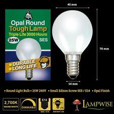 BELL 01701 25W 240V SES/E14 OPAL ROUND LIGHT BULB