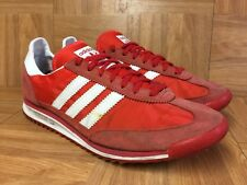 RARE🔥 Adidas SL72 Retro Vintage Racer Trainers Sz 9.5 Core Energy Scarlet Red