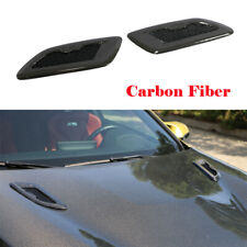 Car Auto Decorative Air Flow Intake Hood Vent Bonnet Cover Universal 2PCS Carbon