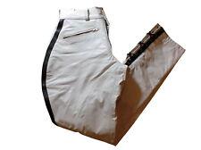 Lederhose weiss neu Stiefelhose weiß Breeches Lederuniform leather pants white