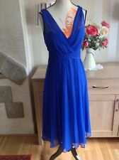 lk bennett flute dr/flute Electronic Blue dress 100% Silk Size-6 New With Tags